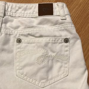 Justice Bottoms - Justice Girls White Jean Shorts Size 12R